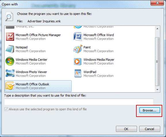 how to change default program to open attachments in outlook